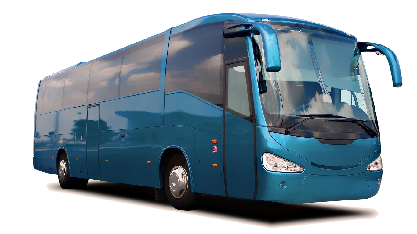 tour bus blue